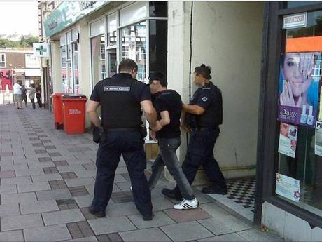 Images of arrests tweeted @ukhomeoffice