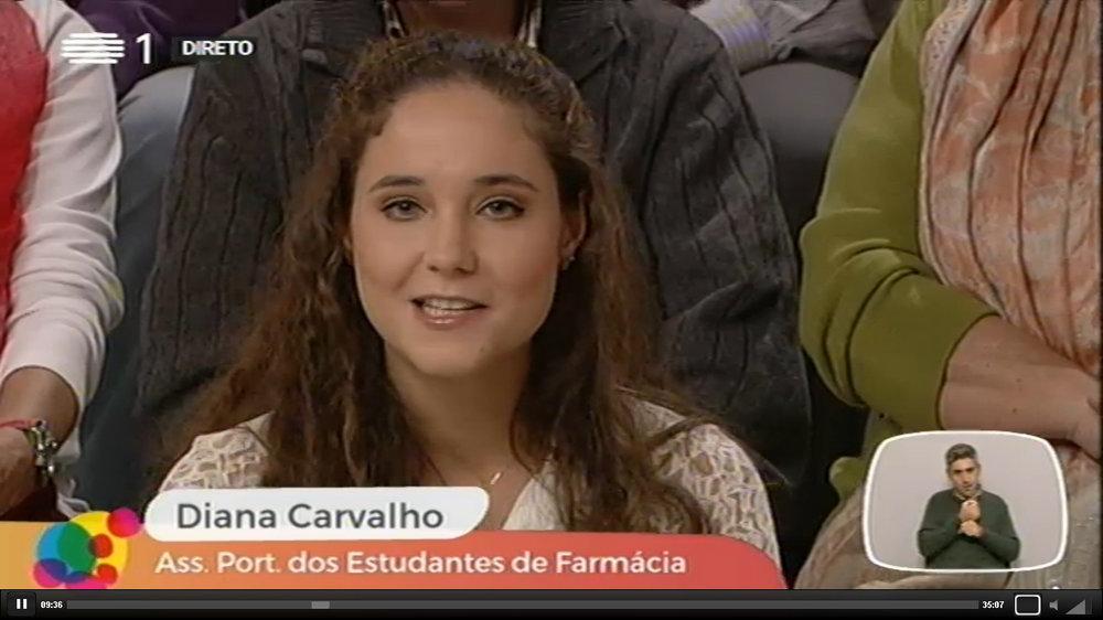 """APEF no """"Agora Nós"""": Rastreio Cardiovascular, 14 de novembro de 2016 (representada por Diana Carvalho, Vice-Presidente de Relações Externas 2015/2016)"""