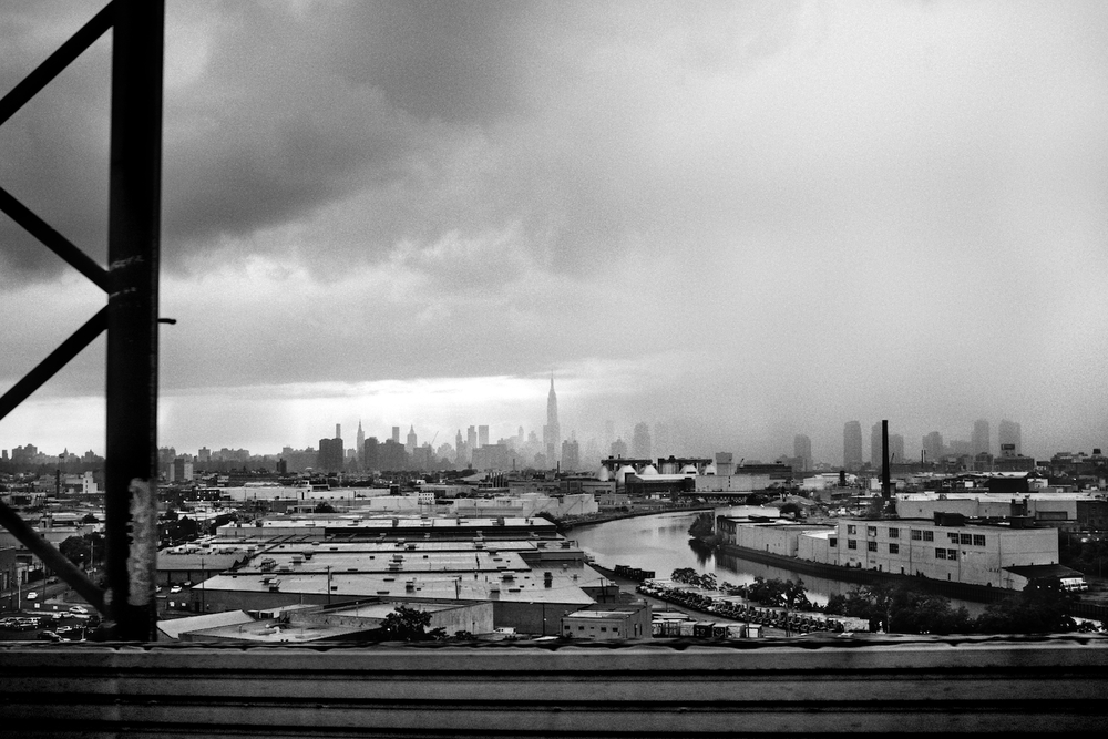 Rainstorm over Manhattan Island