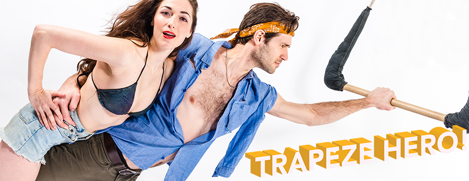 Danielle Slavick and John Behlmann in  Trapeze Hero!