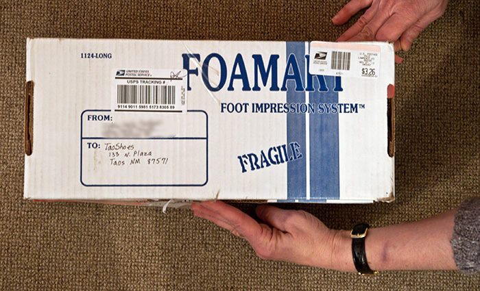 Ship the box back to us and your orthotics are on their way!