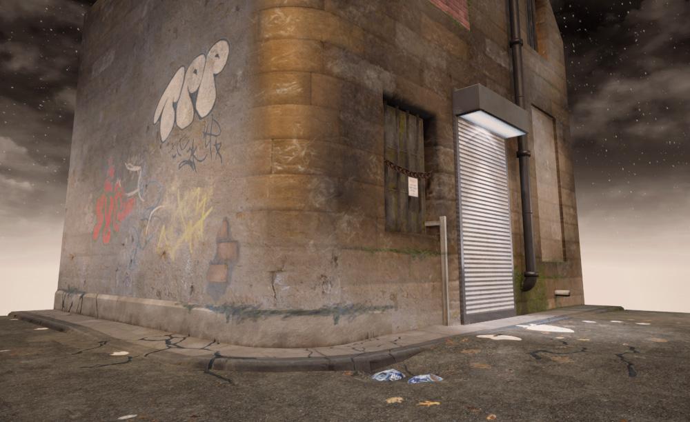 Making a Street Corner in UE4 — Level Art+Design Portfolio