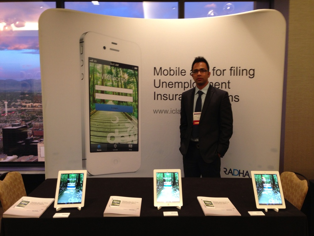 Radha unveils smarphone app for filing weekly claims at the 77th Annual NASWA Conference