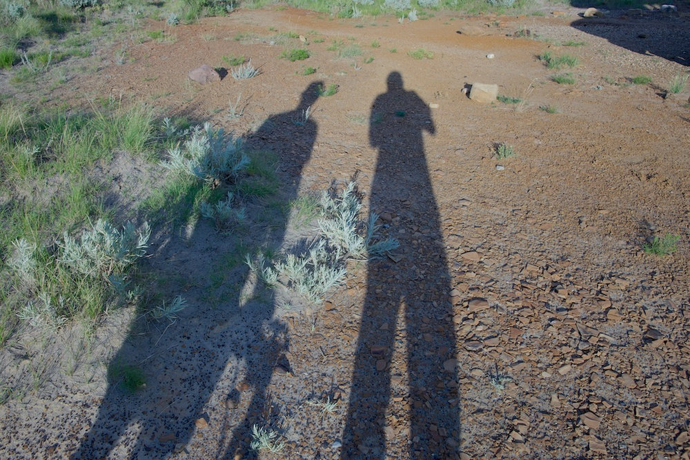 A couple of aperture dorks shooting their shadows.