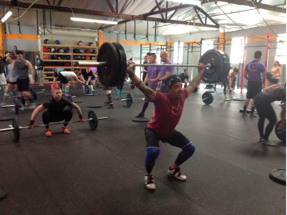 WOD at CrossFit Ganbatte. Glendale, CA