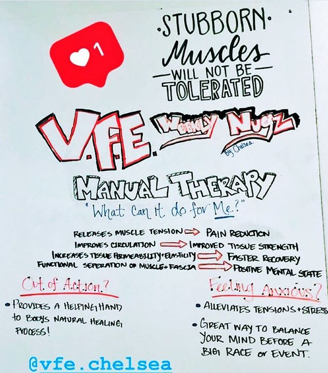 V.F.E. Weekly Nugz. #manualtherapy #vfe #teamvfe #recovery #bodymaintenance #weeklynugz #pasadena #sanmarino