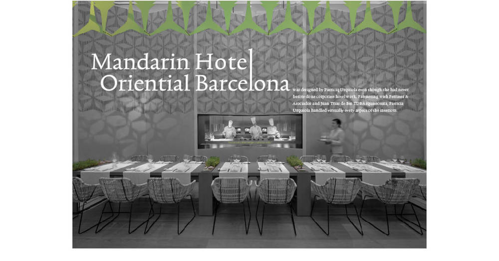Mandarin Hotel Oriental Barcelona Spread