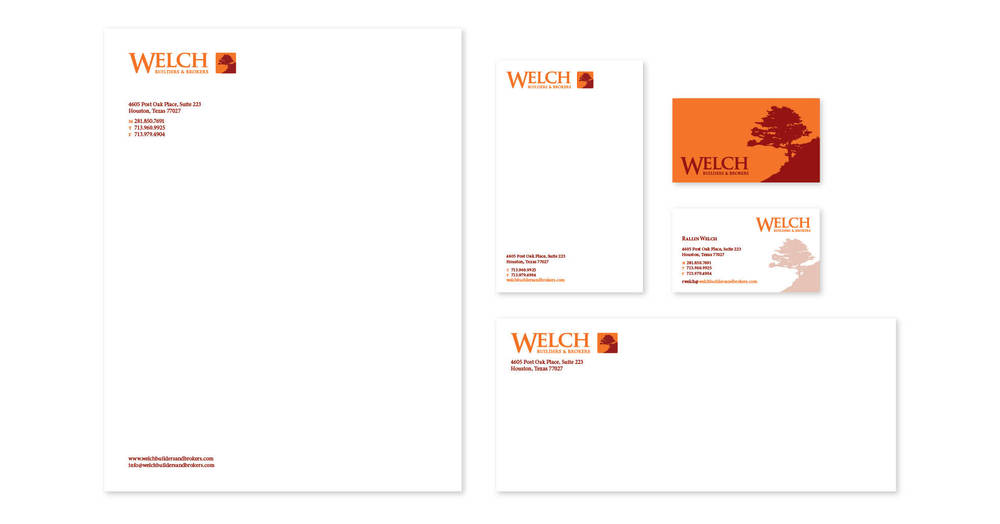 Letterhead, Business Card, Pocket Card, and Envelope