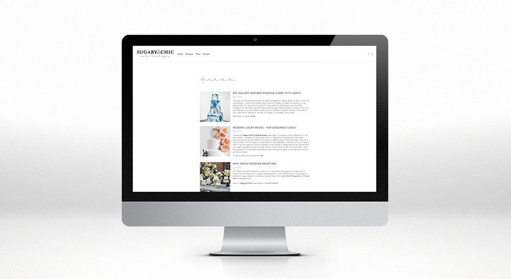 Sugary & Chic Press Page