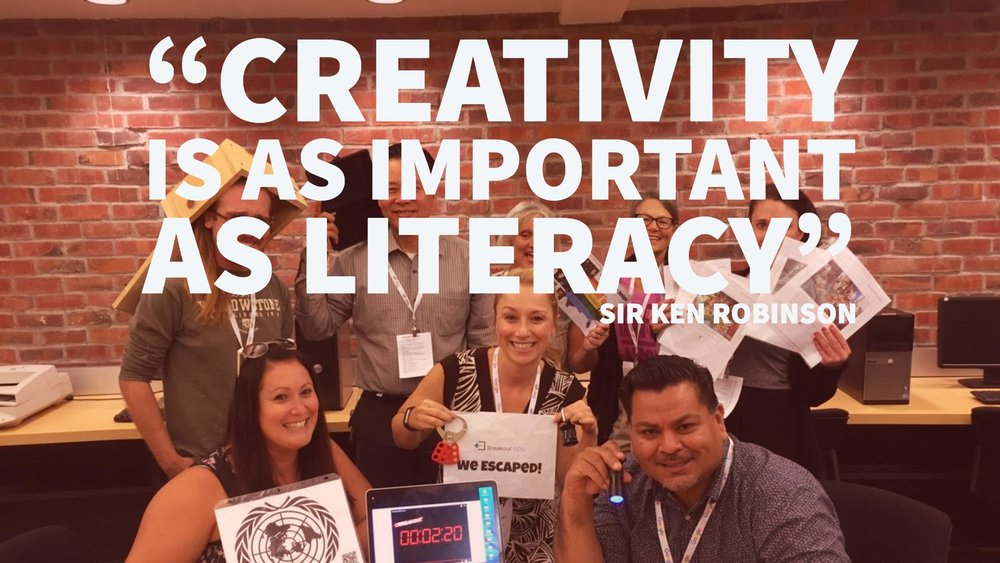 """""""Creativity is as important as literacy"""""""
