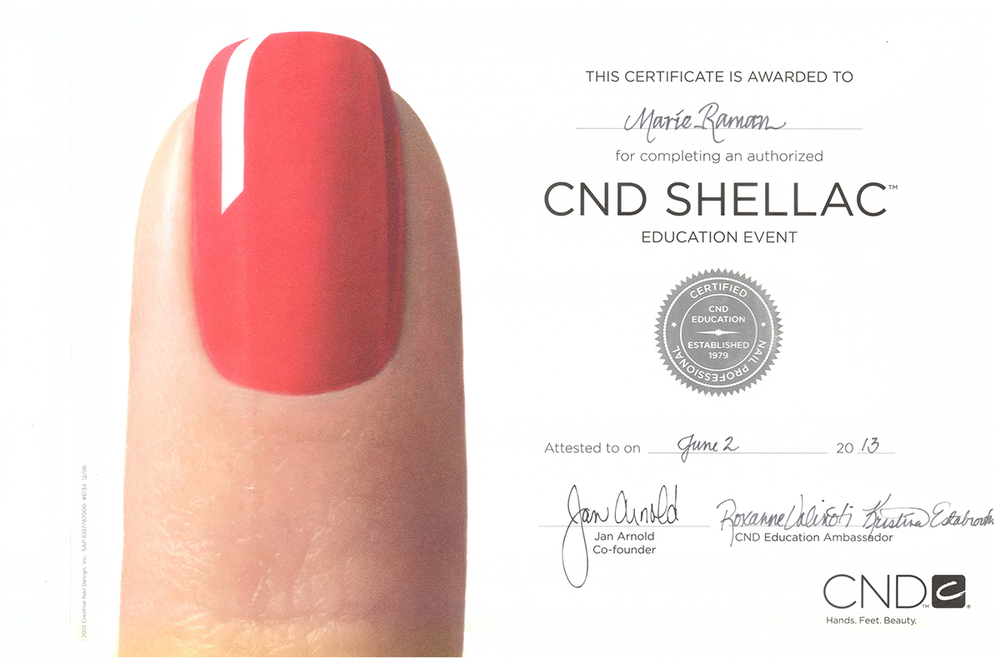 CND+Certificate Nail Top Result 70 Unique Nail Gift Certificate