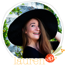 • • • • • Hello I'm Lauren! • • • • •   I'm the crazy, craft-making, blog-designing, photo-taking, vintage-loving girl behind this blog!  I'm so happy you're here, so sit and stay a while and lets get to know each other better!    p.s. party hats are optional but highly recommended