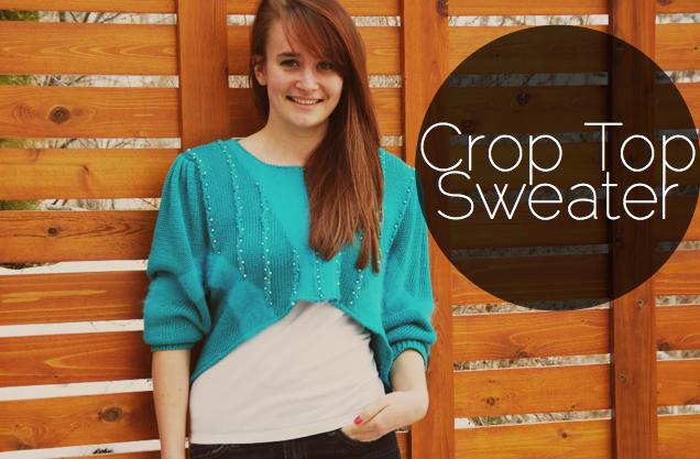 DIY // Crop Top Sweater — Lauren by Design