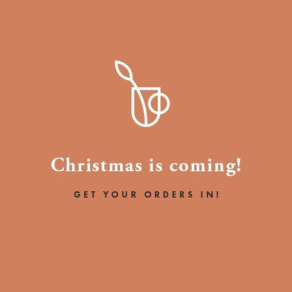 Just a friendly reminder to get your orders in (especially US & international orders) if you want them in time for the holidays! ⛄