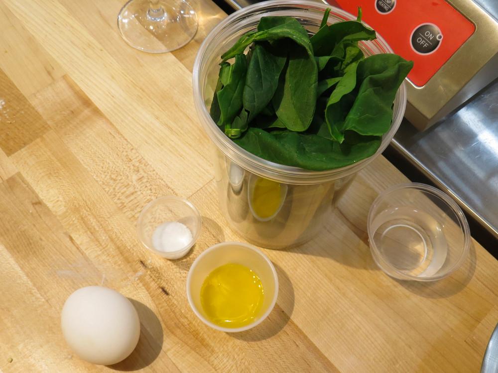 Spinach Pasta Materials