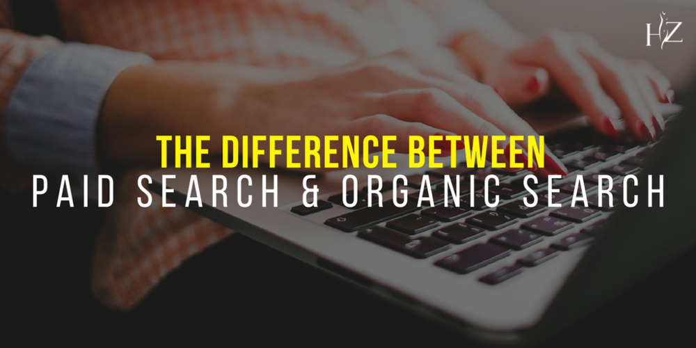 the differences between paid search and organic search