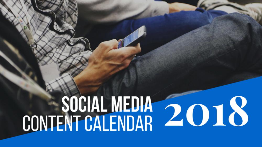 2018 social media content calendar