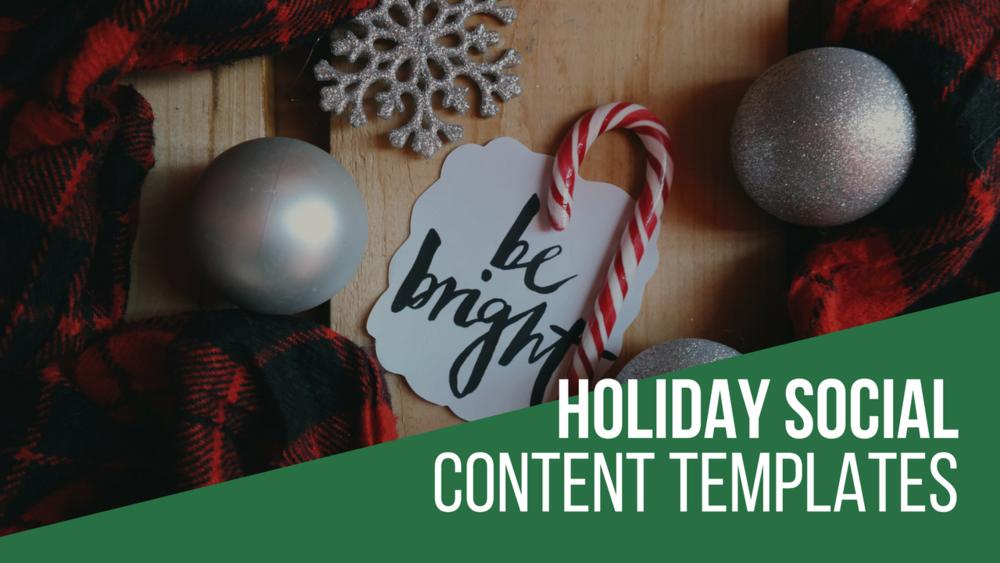 holiday social media templates