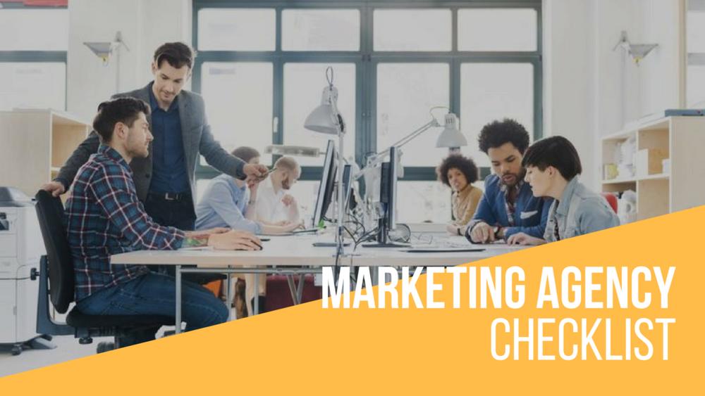 healthcare marketing agency checklist