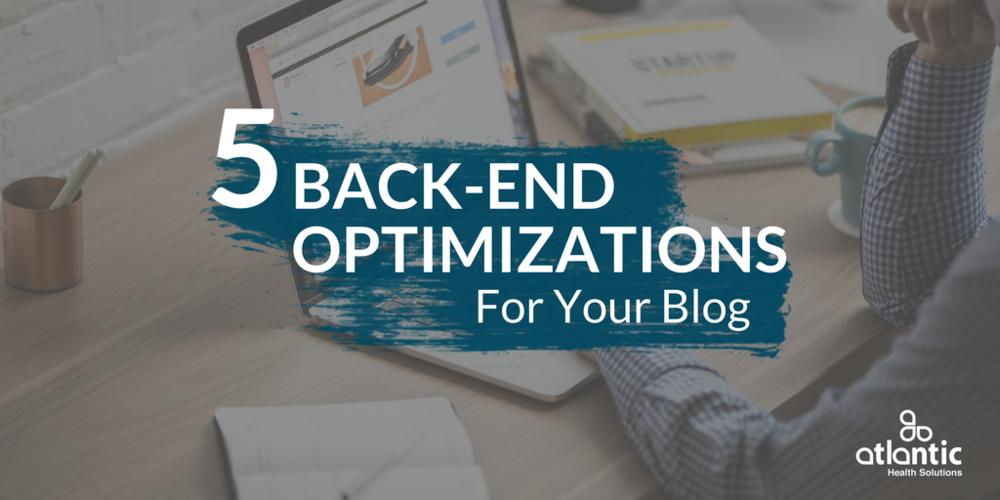 5 back end optimizations for your blog