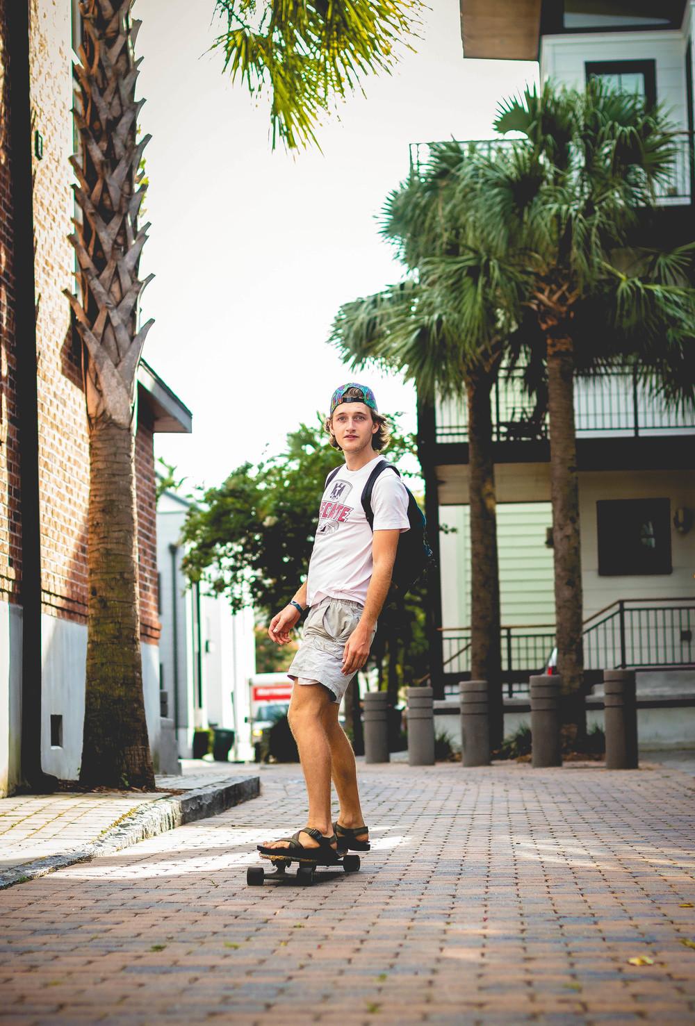 Random passer-by skater