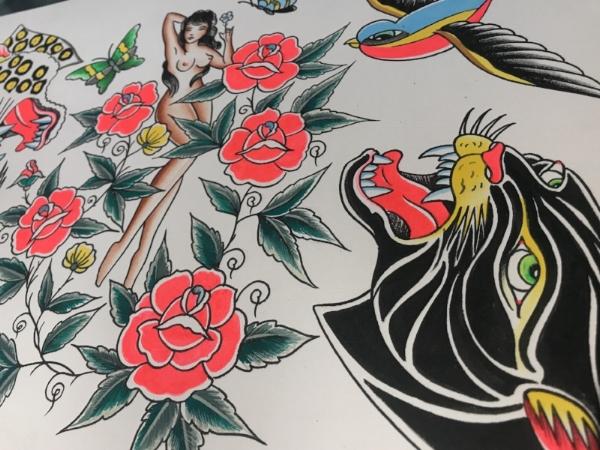 American traditional tattoo flash Nick Colella