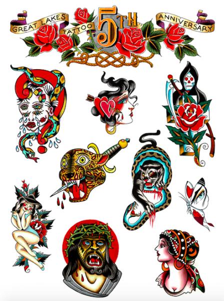 Anniversary tattoo raffle poster