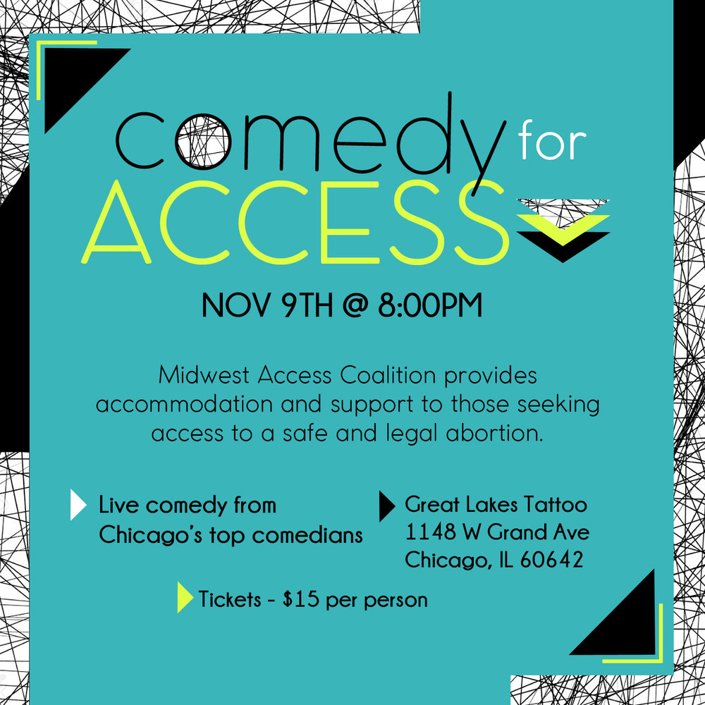 COMEDY FOR ACCESS - We are proud to co-sponsor along with Audrey Jonas