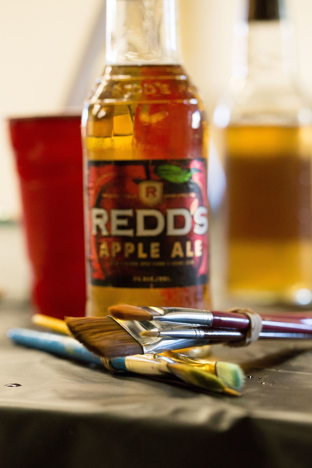 Arty Party has an open bar with both beer and wine to enjoy while you paint your masterpiece!