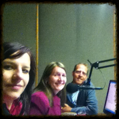 Hannes and Jana Viljoen at Radio Pulpit with Soekie Krog