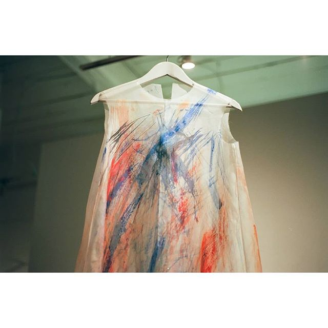 Splashes of color on organza. One of my favorite pieces I've been dreaming about creating for a long time.  ________________________________________ #splashofcolor #handpainted #organza #silk #silkorganza
