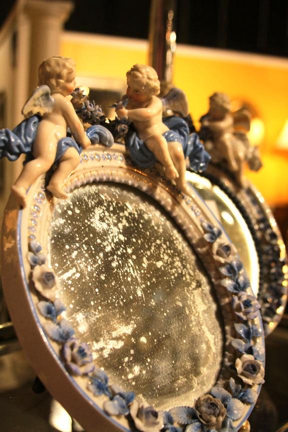 Hiden Galleries: pair of Dresden mirrors