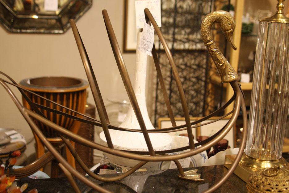 Hiden Galleries: c1960s Maison Jansen swan magazine rack