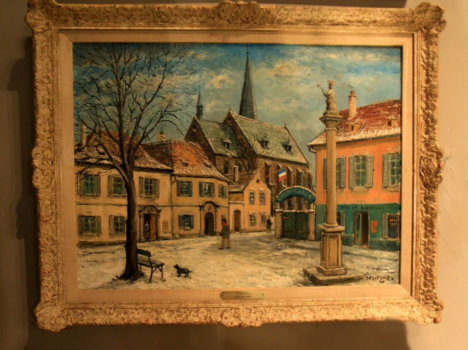 "Hiden Galleries: Delois Lecoque (1891-1981) ""Snow on the Square"" oil"