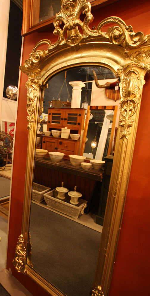 Antique crown pier mirror