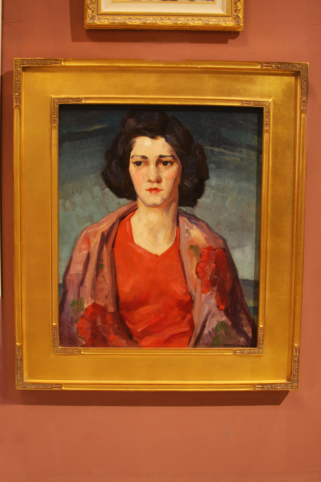 "Agnes Richmond ""Portrait of a Woman with a Shawl"""