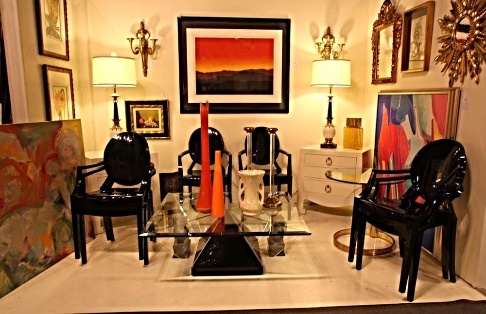 Hiden Galleries: six Kartell Louis ghost chairs