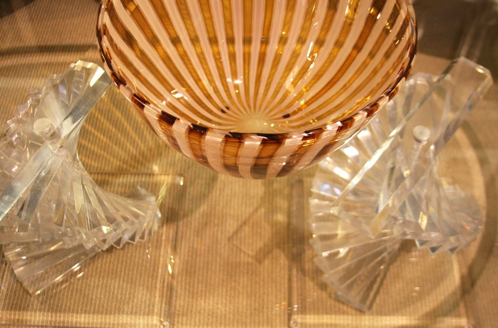 Murano bowl on double helix table