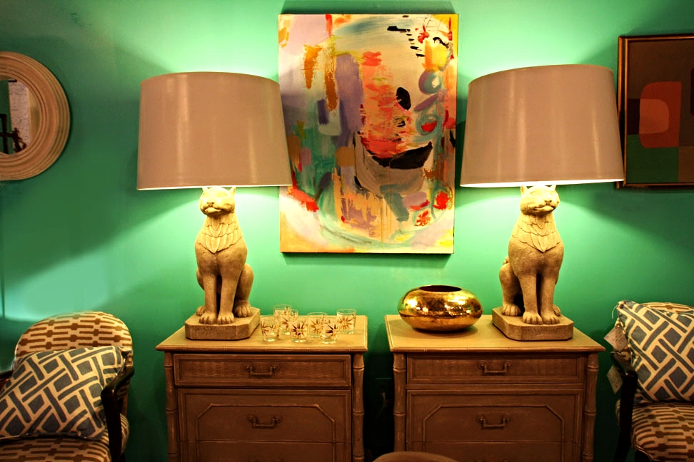 Hiden: Sphinx lamps from a Palm Beach estate