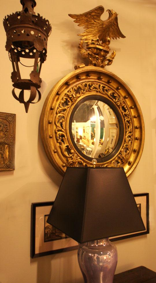 Hiden Galleries: c1840 convex mirror