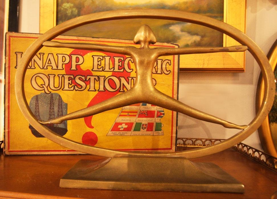 Hiden Galleries: Knapp Electric Questioner and brass sculpture