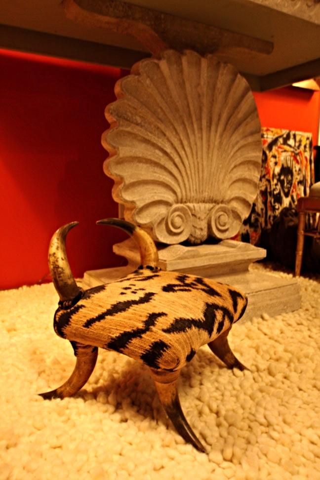 Hiden Galleries: antique horn foot stool