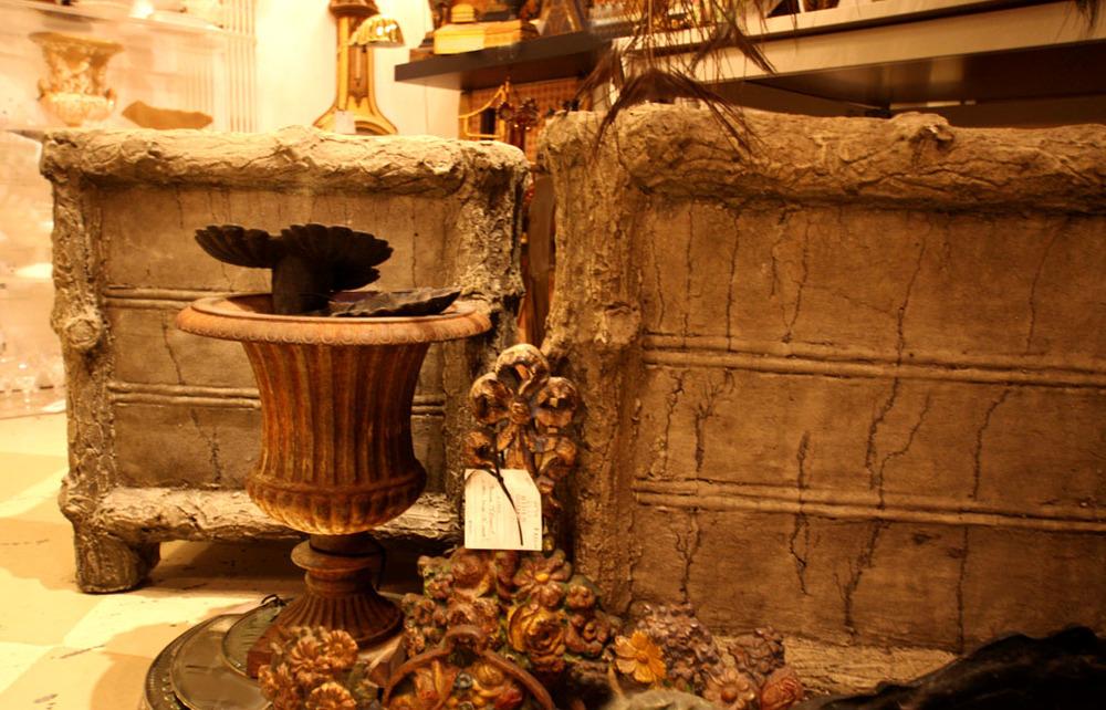 Hiden Galleries: faux bois planters