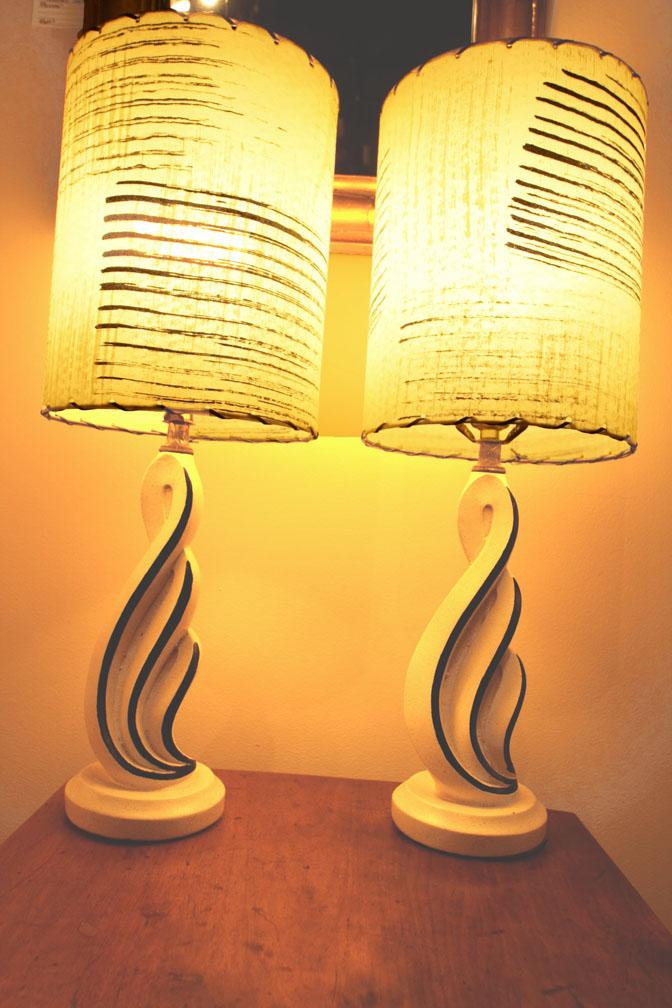 Hiden Galleries: mid-century ceramic lamps