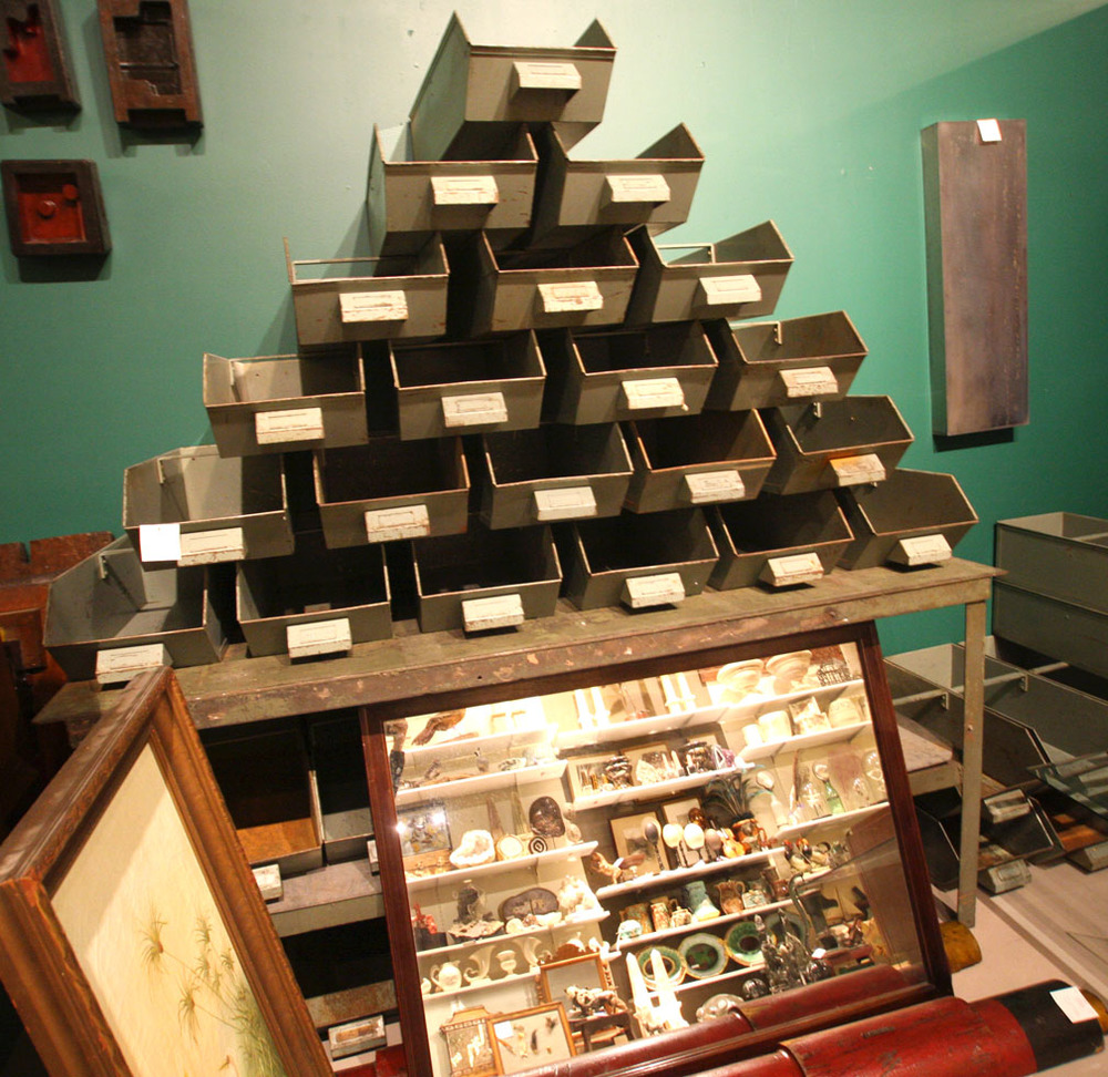 Hiden Galleries: vintage industrial bins