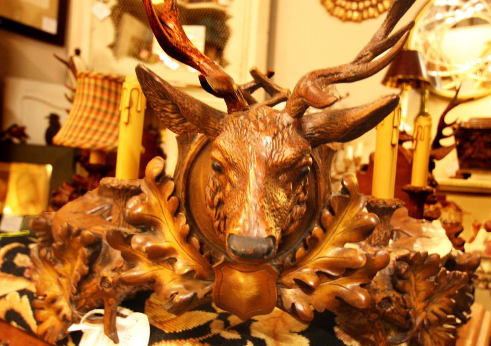 Hiden Galleries: Black Forest stag chandelier