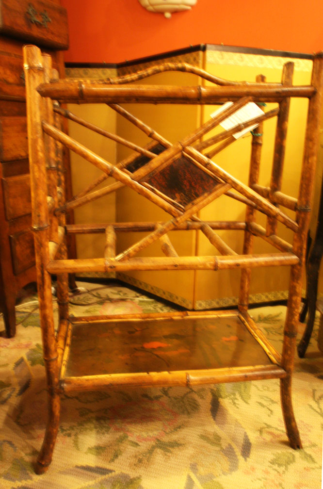 Hiden Galleries: 19th-century bamboo magazine rack