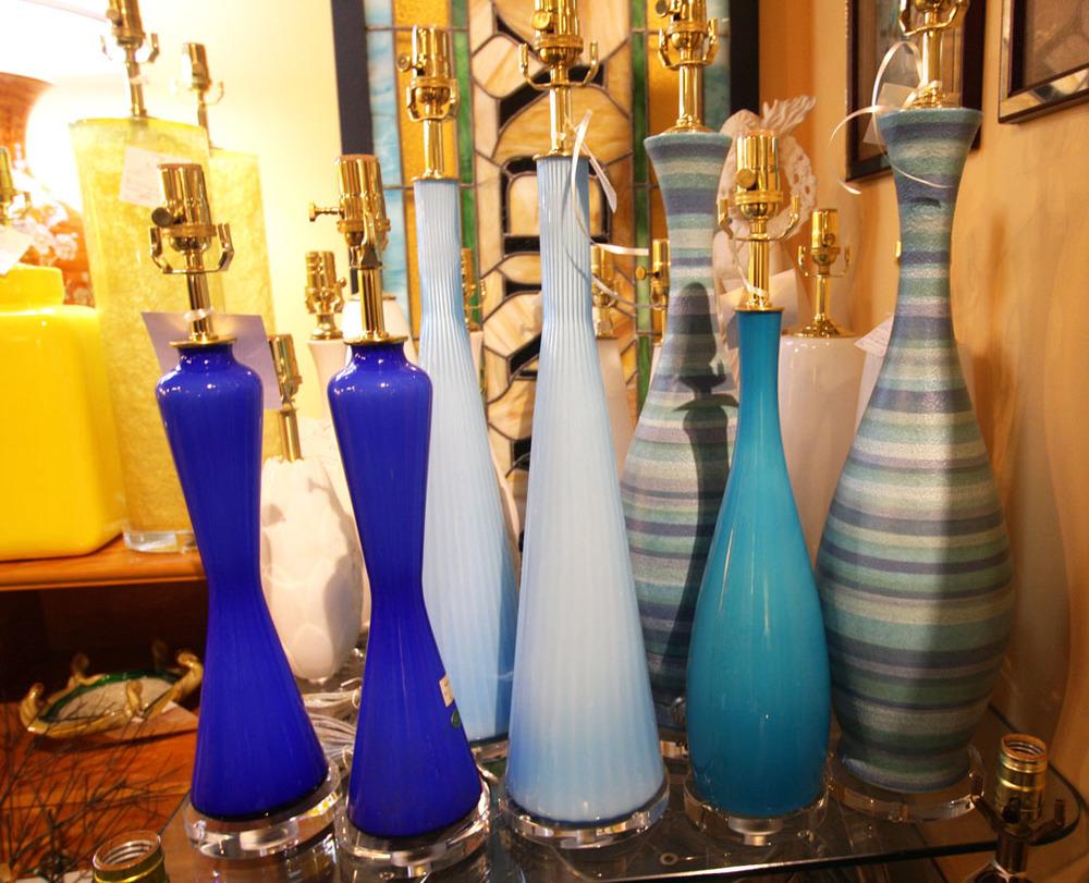 Hiden Galleries: vintage ceramic lamps