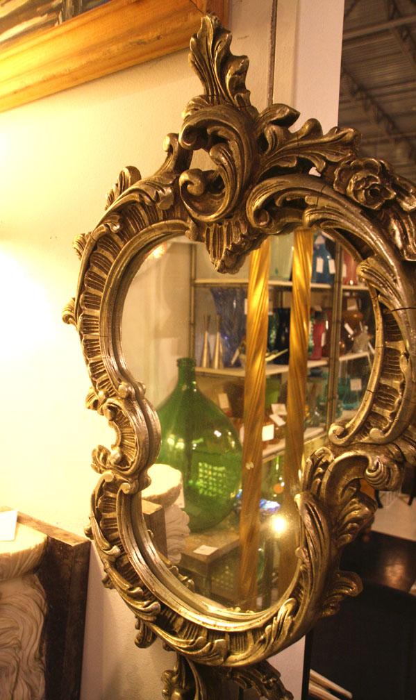 Hiden Galleries: silver gilt mirror