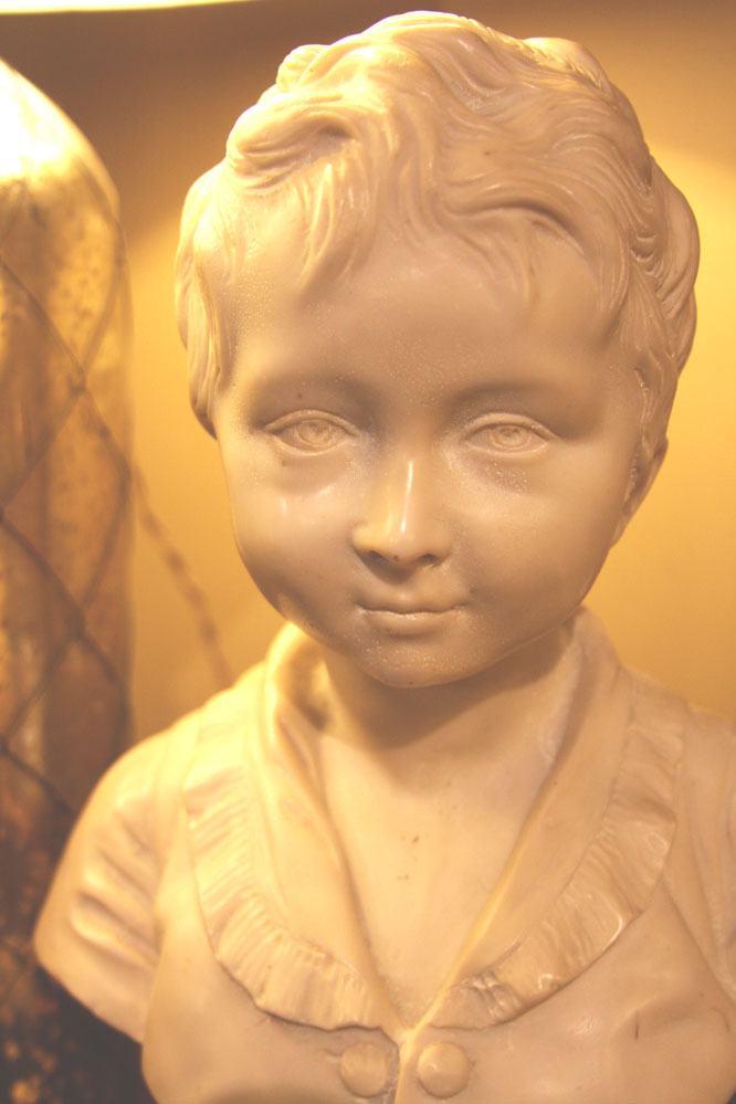 Hiden Galleries: charming bust of young boy, French, c1920-30